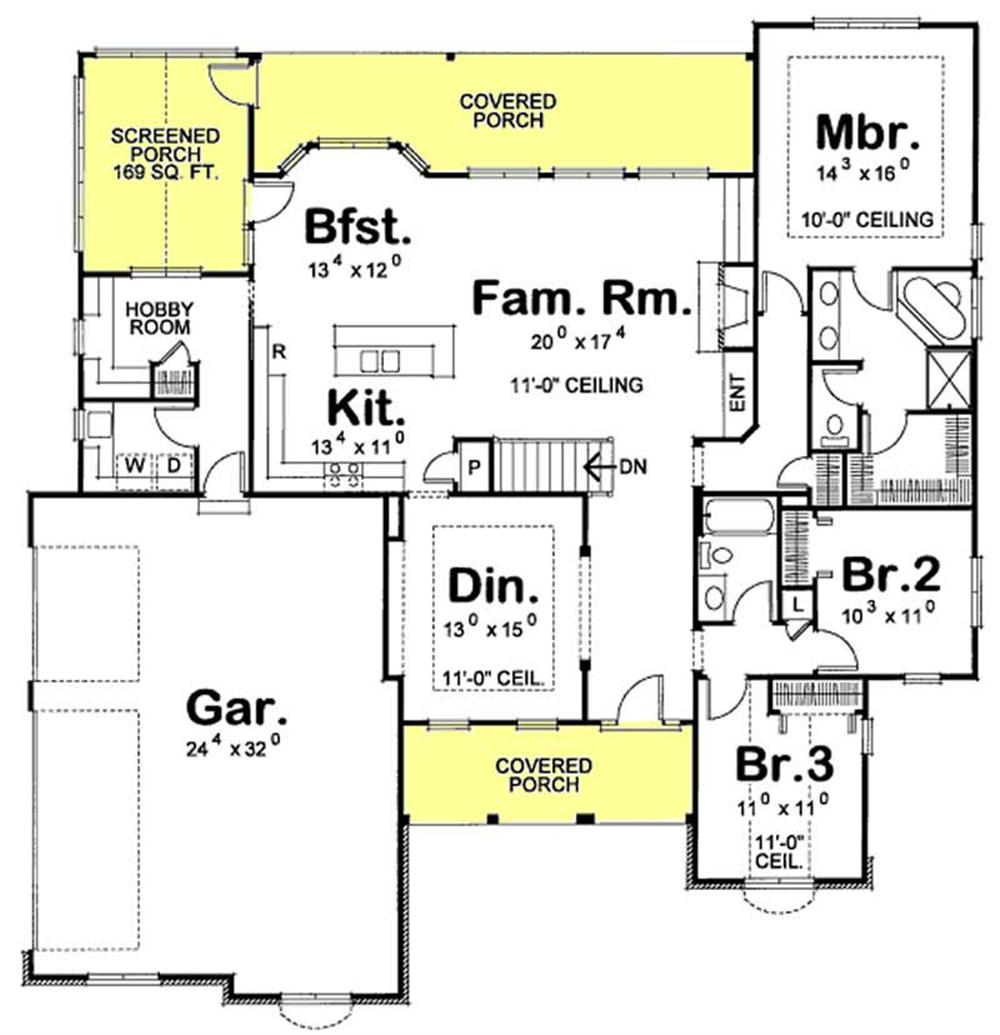 Large Images For House Plan 120 2191