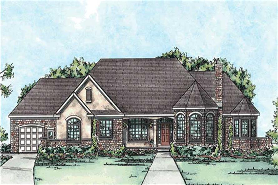 3-Bedroom, 2962 Sq Ft Country Home Plan - 120-2194 - Main Exterior