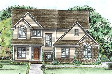 4-Bedroom, 2154 Sq Ft Country Home Plan - 120-2195 - Main Exterior