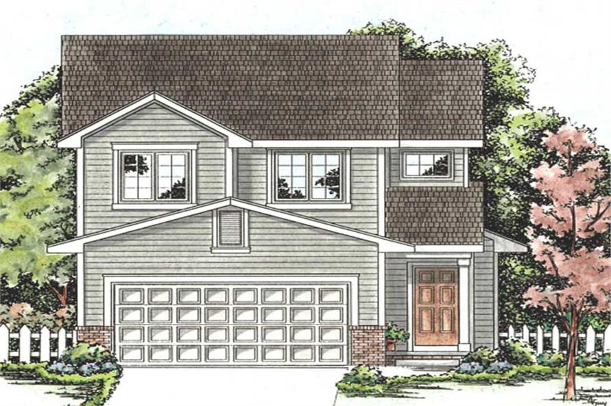3-Bedroom, 1440 Sq Ft Small House Plans - 120-2199 - Front Exterior