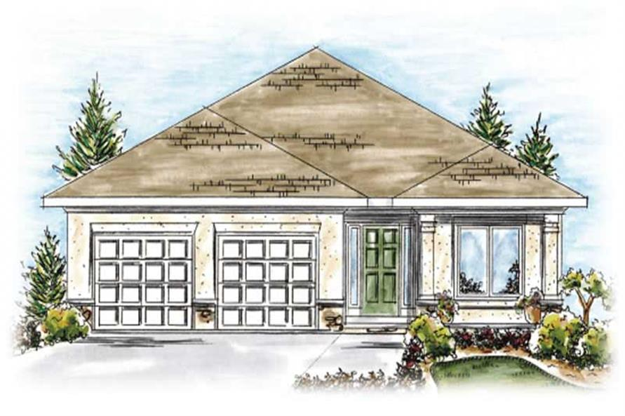 2-Bedroom, 1550 Sq Ft Ranch House Plan - 120-2201 - Front Exterior