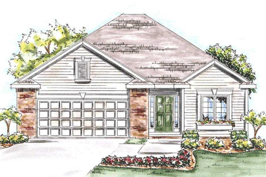 2-Bedroom, 1550 Sq Ft Ranch House Plan - 120-2202 - Front Exterior