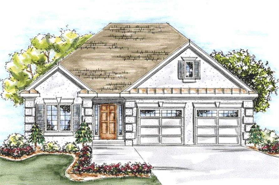 2-Bedroom, 1905 Sq Ft Mediterranean House Plan - 120-2204 - Front Exterior