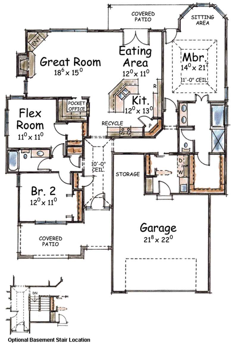 House plan 120 2205 3 bedroom 1905 sq ft mediterranean for 3 bedroom mediterranean house plans