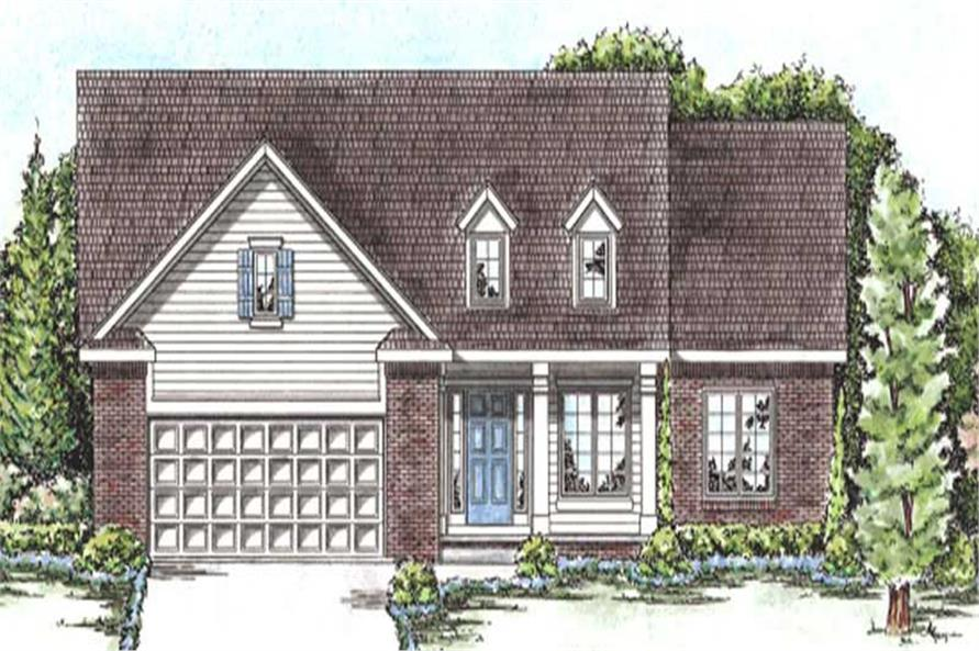 3-Bedroom, 1467 Sq Ft Cape Cod House Plan - 120-2207 - Front Exterior