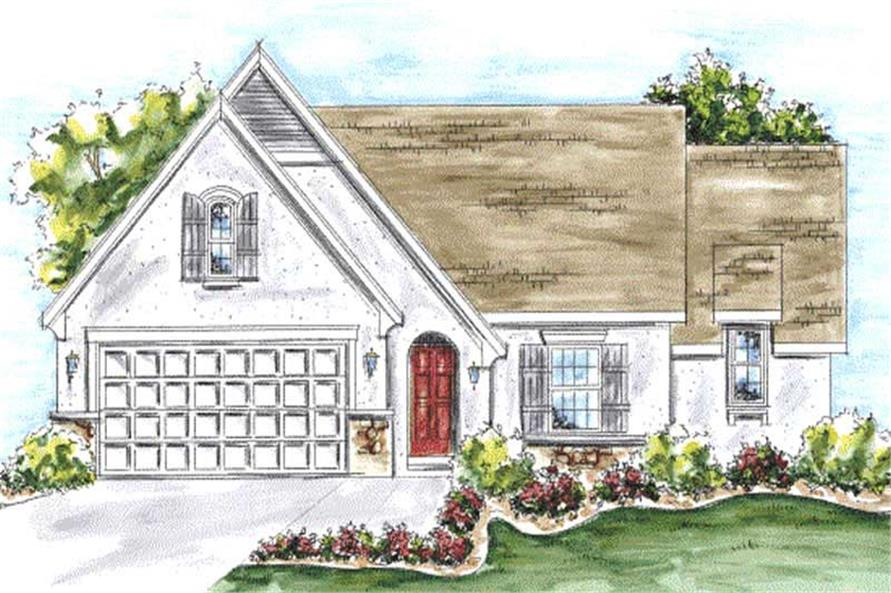 2-Bedroom, 1692 Sq Ft Country Home Plan - 120-2210 - Main Exterior