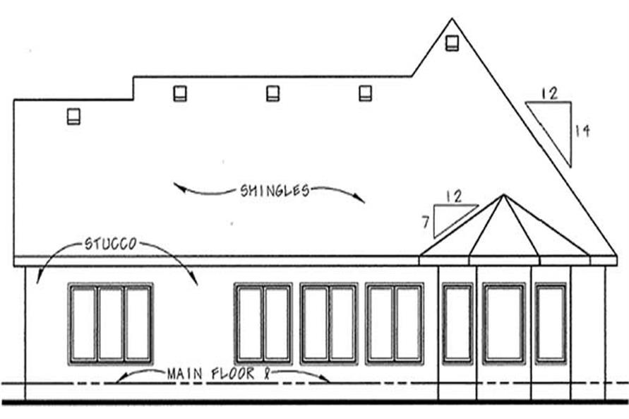 Home Plan Rear Elevation of this 2-Bedroom,1692 Sq Ft Plan -120-2210