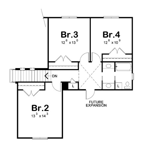120-2230: Floor Plan Upper Level