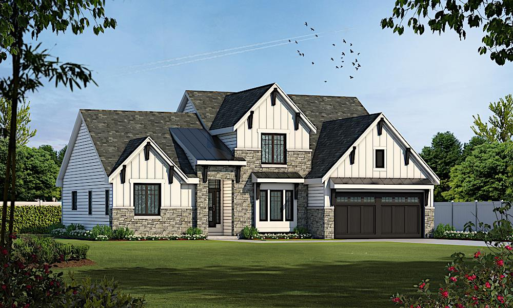 Transitional home (ThePlanCollection: Plan #120-2230)