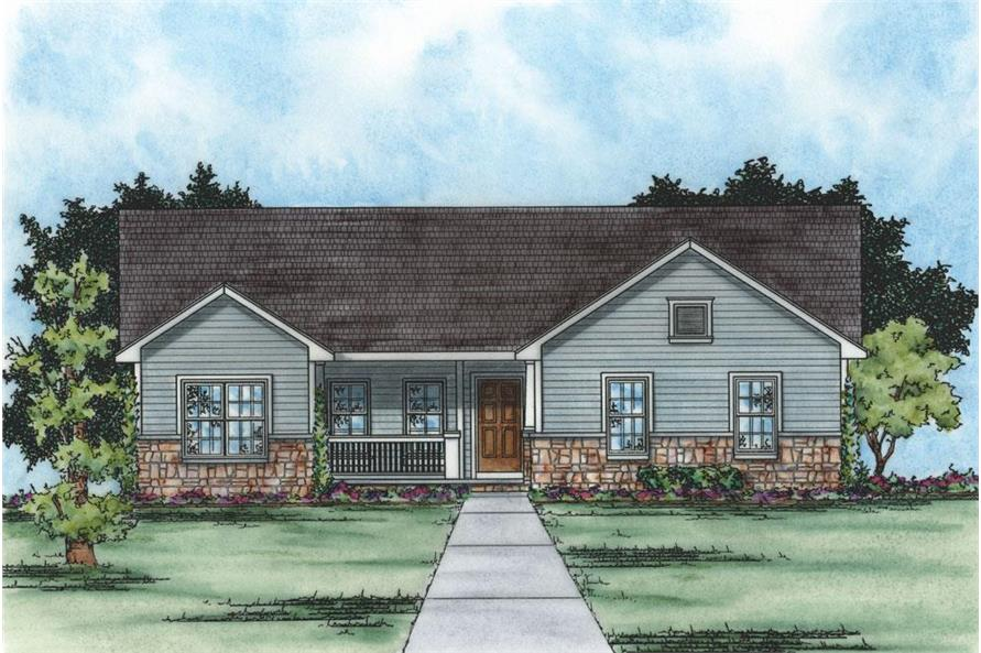 120-2235: Home Plan Rendering
