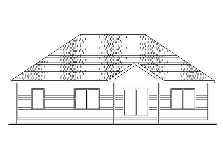 120-2236: Home Plan Rear Elevation