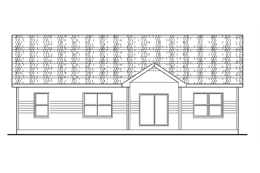 120-2237: Home Plan Rear Elevation