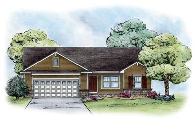 3-Bedroom, 1265 Sq Ft Craftsman House Plan - 120-2237 - Front Exterior