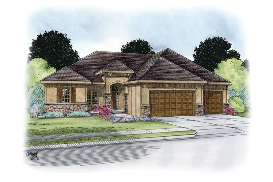 120-2238: Home Plan Rendering