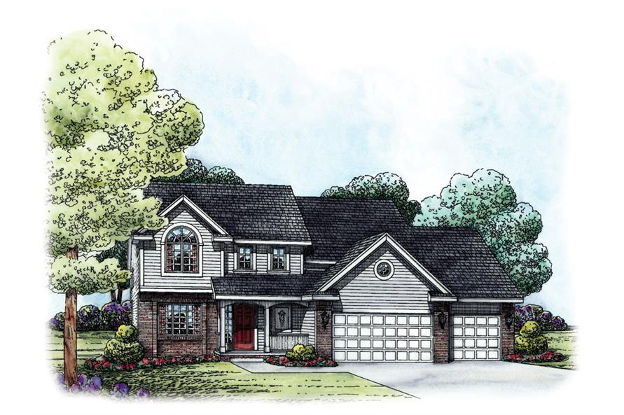 120-2242: Home Plan Rendering