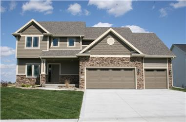 4-Bedroom, 2326 Sq Ft Traditional Home Plan - 120-2242 - Main Exterior