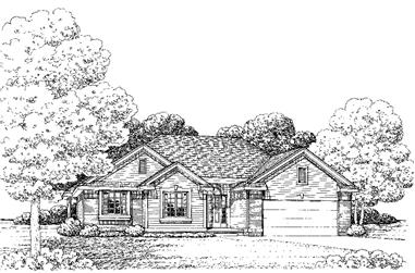 3-Bedroom, 1862 Sq Ft Traditional House Plan - 120-2245 - Front Exterior