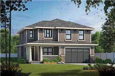 4-Bedroom, 2309 Sq Ft Traditional House - Plan #120-2249 - Front Exterior