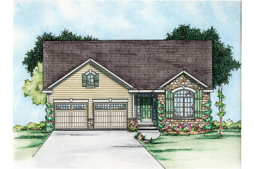 Front Elevation of this Craftsman House (#120-2251) at The Plan Collection.