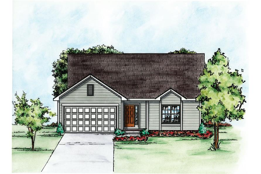 Front Elevation of this Traditional House (#120-2252) at The Plan Collection.