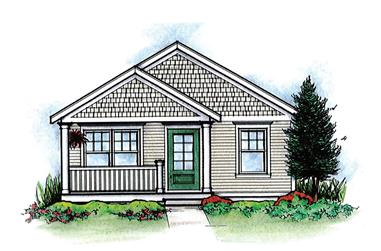 2-Bedroom, 682 Sq Ft Cottage Home Plan - 120-2254 - Main Exterior