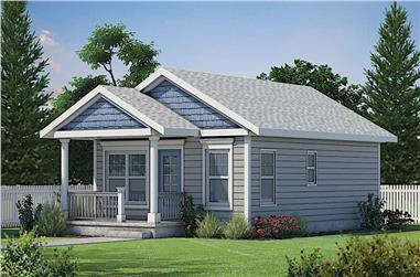 2-Bedroom, 682 Sq Ft Cottage Home - Plan #120-2254 - Main Exterior