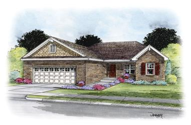 3-Bedroom, 1373 Sq Ft Traditional House Plan - 120-2258 - Front Exterior
