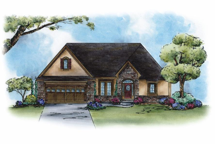 1-Bedroom, 2307 Sq Ft French Home Plan - 120-2270 - Main Exterior