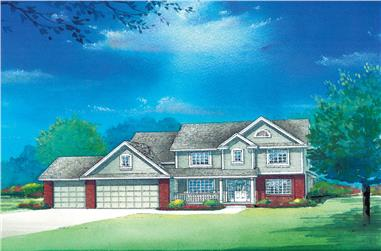 4-Bedroom, 2376 Sq Ft Traditional House Plan - 120-2283 - Front Exterior