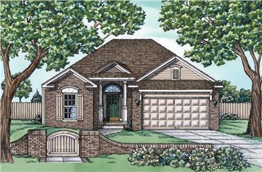 2-Bedroom, 1470 Sq Ft Traditional Home - Plan #120-2299 - Main Exterior