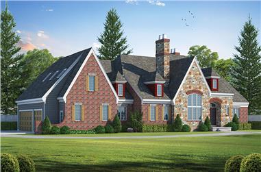 3-Bedroom, 3747 Sq Ft French House Plan - 120-2457 - Front Exterior
