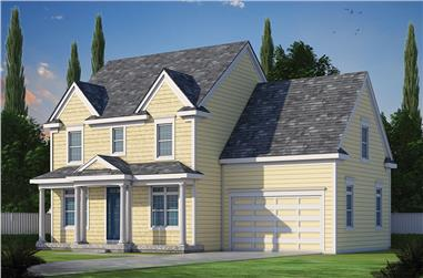 3-Bedroom, 2050 Sq Ft Craftsman Home Plan - 120-2463 - Main Exterior