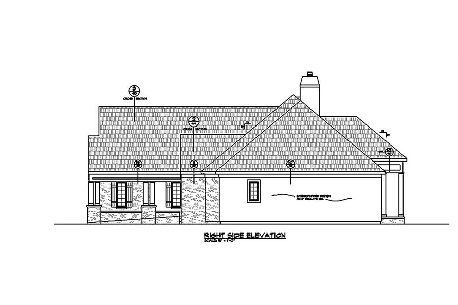 Home Plan Right Elevation of this 2-Bedroom,2266 Sq Ft Plan -120-2464
