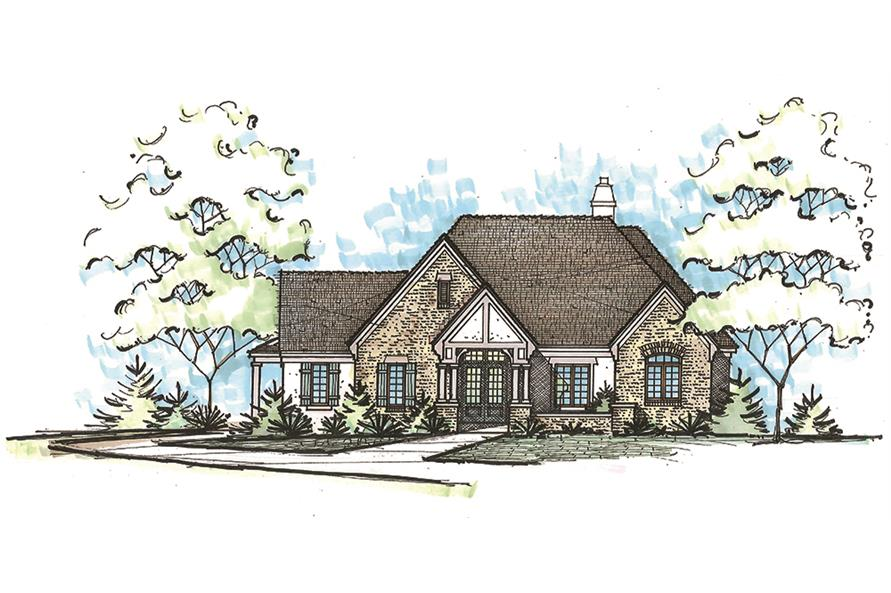 2-Bedroom, 2266 Sq Ft French Home Plan - 120-2464 - Main Exterior