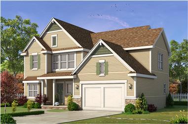 4-Bedroom, 2527 Sq Ft Craftsman Home Plan - 120-2466 - Main Exterior