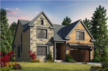Front elevation of Craftsman home (ThePlanCollection: House Plan #120-2467)