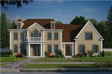 5-Bedroom, 5722 Sq Ft Colonial House Plan - 120-2471 - Front Exterior