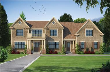 5-Bedroom, 5722 Sq Ft Colonial Home Plan - 120-2472 - Main Exterior