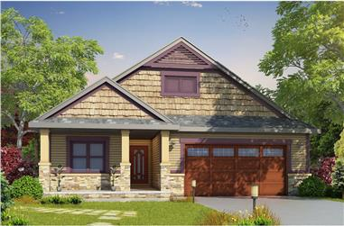 2-Bedroom, 1676 Sq Ft Craftsman House Plan - 120-2478 - Front Exterior