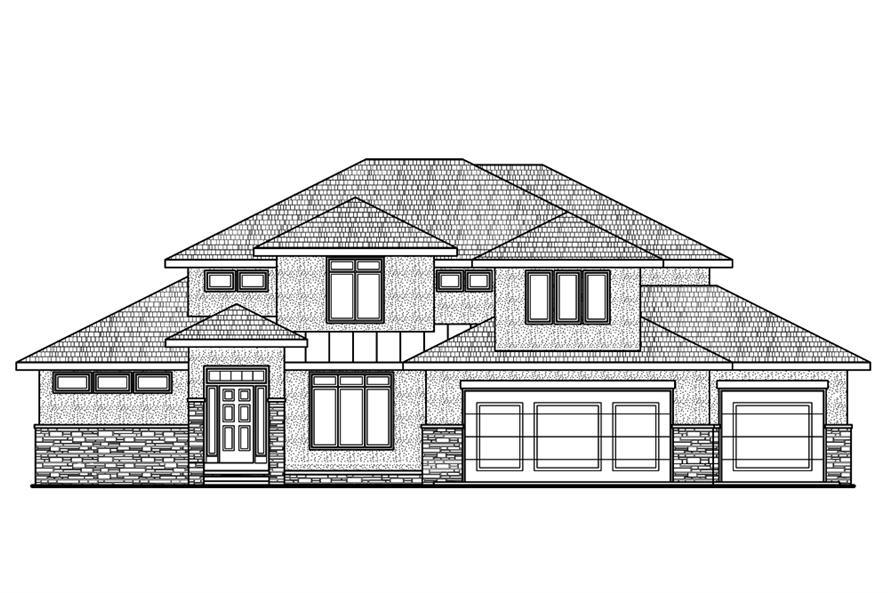 120-2482: Home Plan Front Elevation