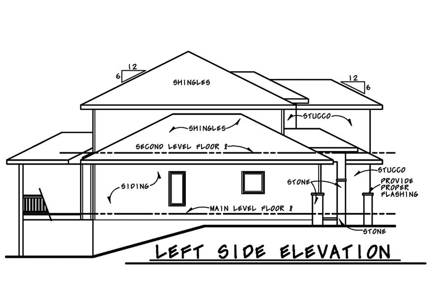 120-2482: Home Plan Left Elevation