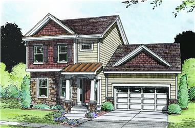 Front elevation of Traditional home (ThePlanCollection: House Plan #120-2484)