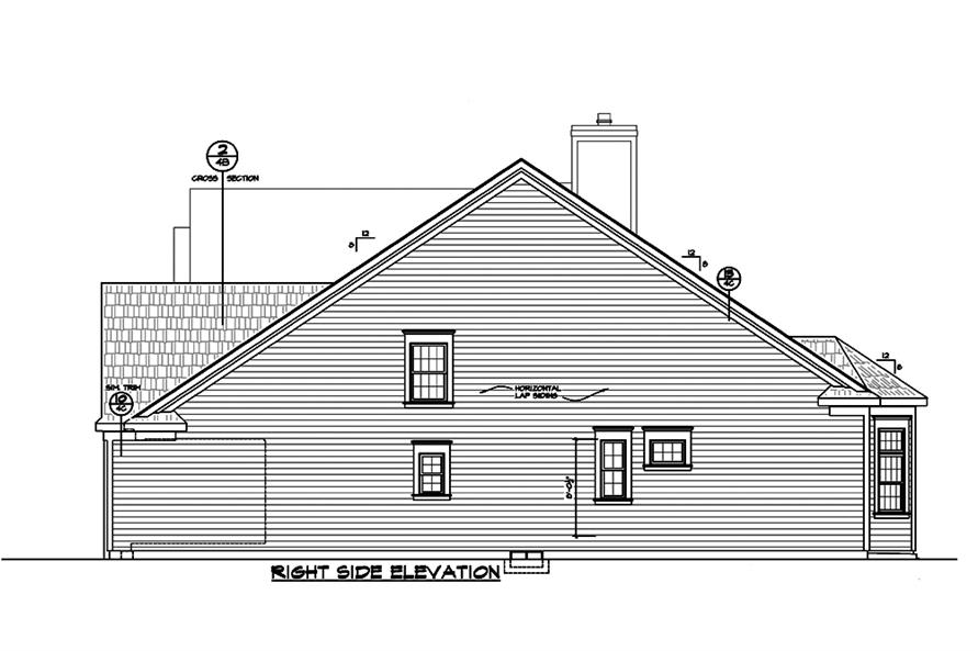 Home Plan Right Elevation of this 3-Bedroom,2196 Sq Ft Plan -120-2489