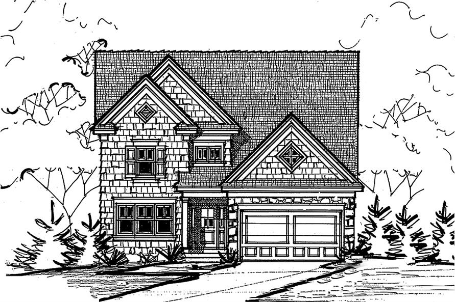 Home Plan Front Elevation of this 3-Bedroom,2196 Sq Ft Plan -120-2489