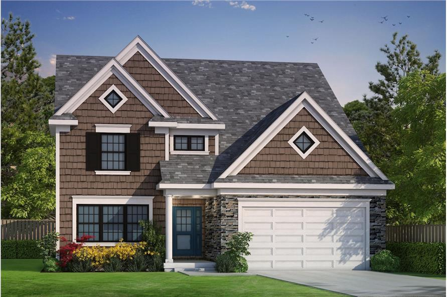 3-Bedroom, 2196 Sq Ft Traditional House Plan - 120-2489 - Front Exterior