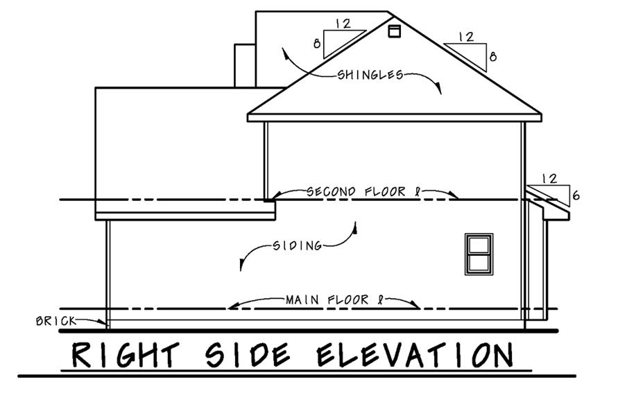 Home Plan Right Elevation of this 3-Bedroom,1460 Sq Ft Plan -120-2502