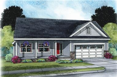 Front elevation of Traditional home (ThePlanCollection: House Plan #120-2504)