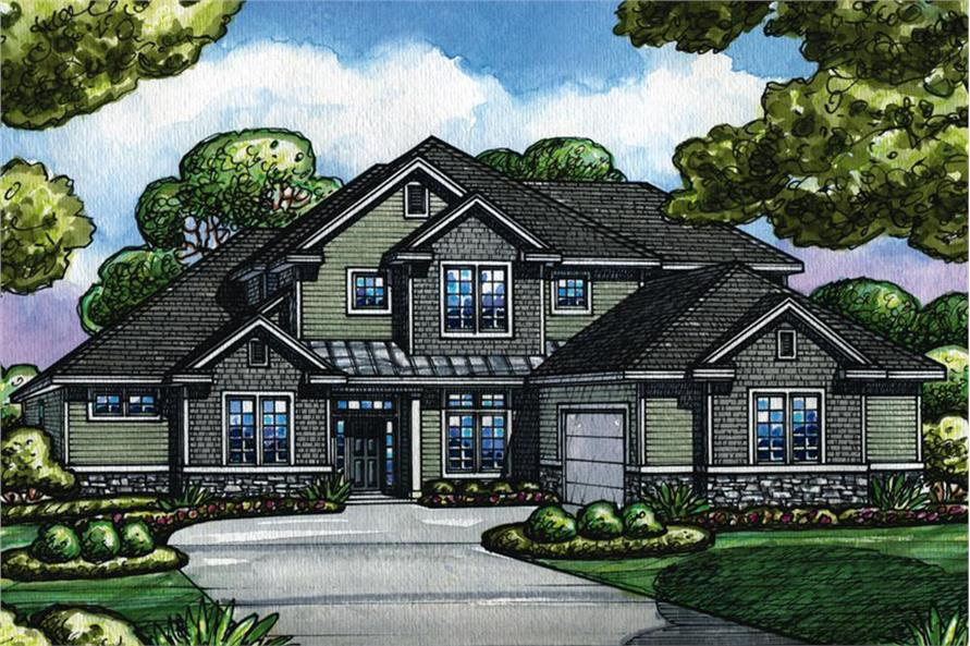 4-Bedroom, 2902 Sq Ft Craftsman Home Plan - 120-2521 - Main Exterior