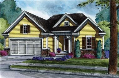 3-Bedroom, 1858 Sq Ft Country Home Plan - 120-2525 - Main Exterior