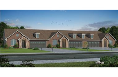 6-Bedroom, 5226 Sq Ft Multi-Unit Home Plan - 120-2528 - Main Exterior